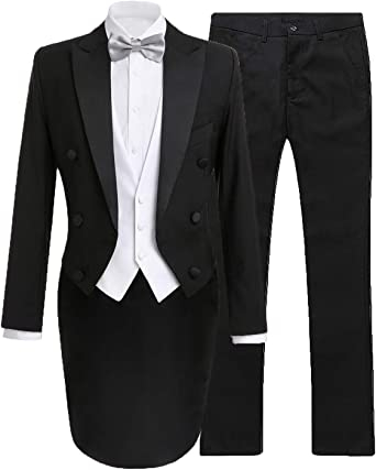 Button Down Shirt Ameyda Boys 3-Piece Suit Set Vest Pants Outfit