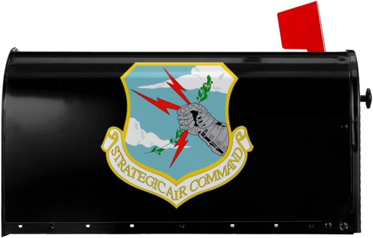 BSUUJCGF Strategic Air Command Vintage Magnetic Mailbox Cover Letter Box Post Box Cover Wrap Garden Home Decor Standard 18 X 21in and 25.5 X 21in