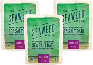 product image for The Seaweed Bath Co. Hydrating Nourishing Sea Salt Bath (3-pack), Lavender, With Organic Bladderwrack Seaweed, Mineral-Rich Ocean Experience with Aromatherapy, Vegan, Paraben Free, 3x2 oz.