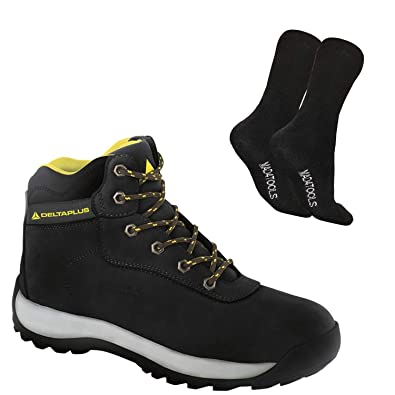 UK Mens Steel Toe Safety Shoes Trainers Work Boots Sports Hiking Shoes Size HOT