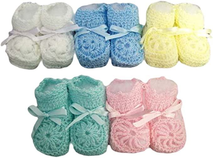 Handmade Hand Crocheted Baby Girl Flower Hat /& Mitts Various Colours 100/%Acrylic