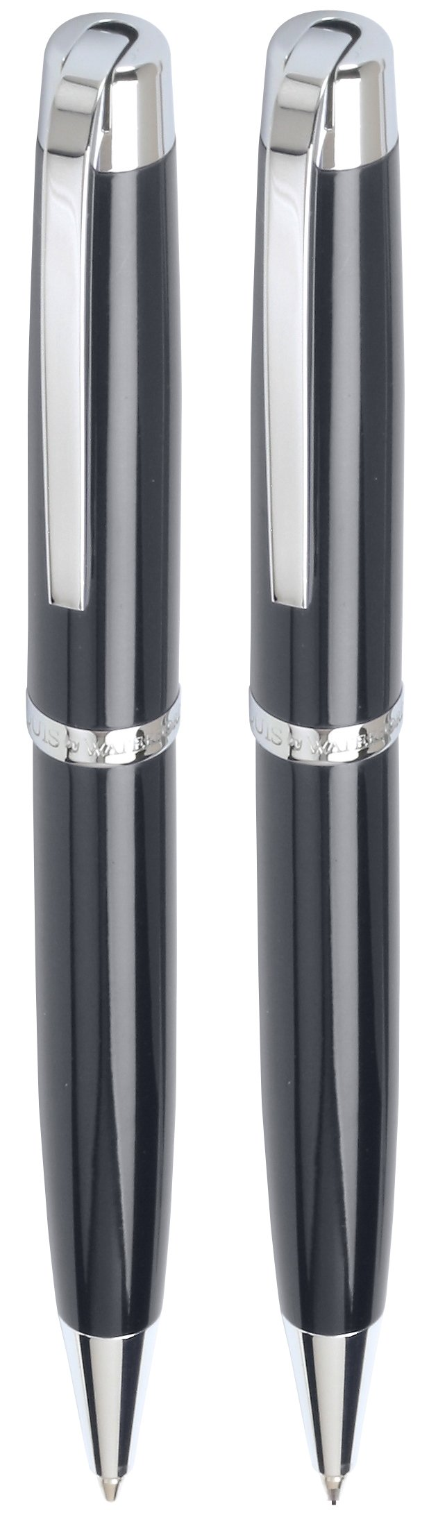 Marquis Metro Ball Pen & Mechanical Pencil Set, Black Lacquer Finish with Chrome Accents (WM/828/BK/C) by Marquis By Waterford (Image #1)