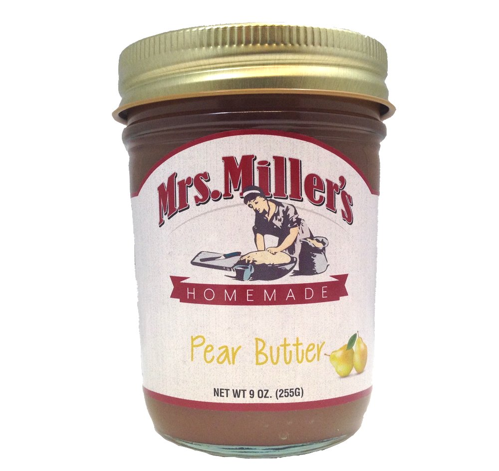 Favorite FRUIT BUTTERS Gift Assortment Box - 3 Jar Sampler, Variety Pack of Apple, Pumpkin and Pear Butter (9 oz full-sized jars) by Mrs. Miller's in a Gold Scroll Gift Box by Jarosa Gifts by Mrs. Miller's (Image #6)