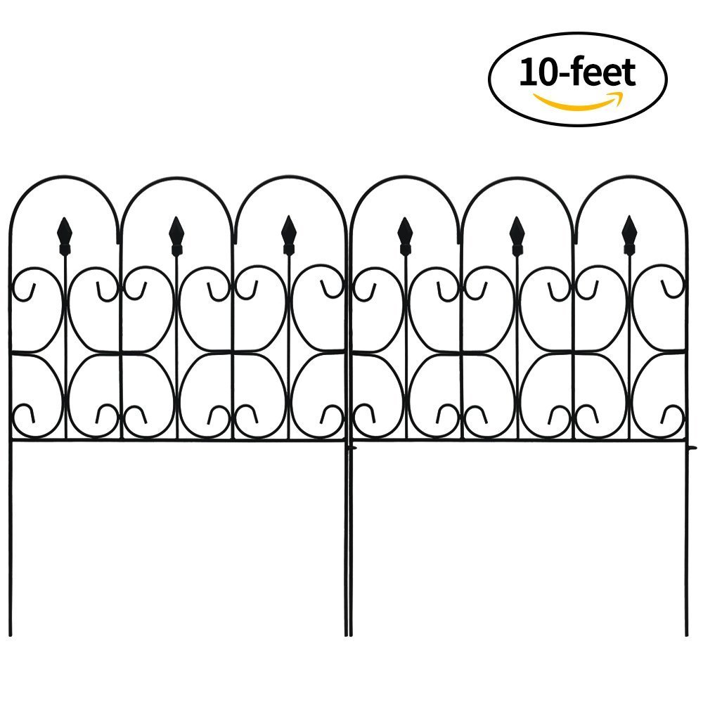 Amazon.com : Amagabeli Decorative Garden Fence Outdoor Coated Metal ...