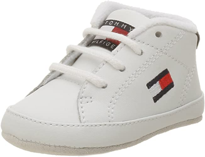 more photos latest discount recognized brands Amazon.com | Tommy Hilfiger Infant/Toddler Flag Crib Shoe, White ...