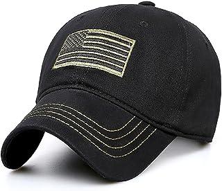 H-sunshy Cappellino da Baseball per Berretto da Baseball retrò con Ricamo Militare.
