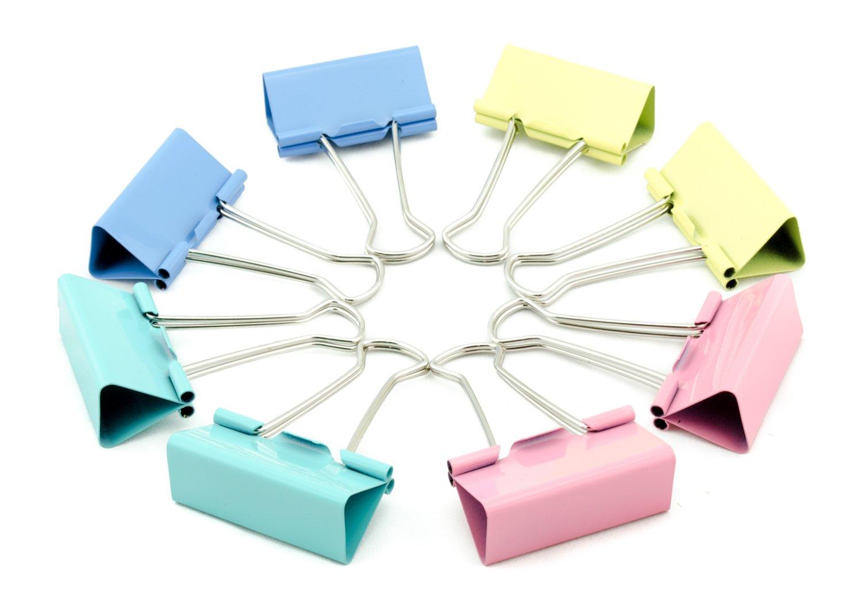CCINEE - 60 Mini clip metalliche assortite da ufficio, 15 mm