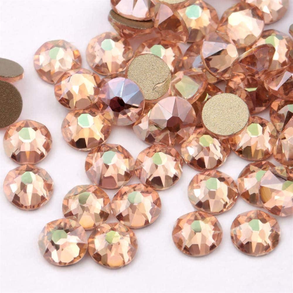 PENVEAT Nueva Serie de Placas de Color Delicada AB Color Sin revisión Piedras del Strass SS16 SS20 8 Grande 8 Pequeña Gema de Cristal de Diamantes de imitación, Q-Champagne AB, SS20 (4.8-5.0mm)