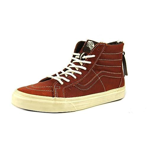 d2d0e4ee1351ee Vans Mens Sk8-Hi Zip Ca (Boot Leather) Henna VN-0XH9EOU 9  Amazon.ca  Shoes    Handbags
