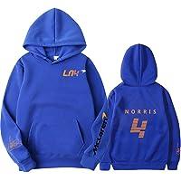 Tsingsa Landoo-Norris Sweatshirt met capuchon, voor herfst, winter, Formule een loper F1, Team-logo, voor heren en dames…