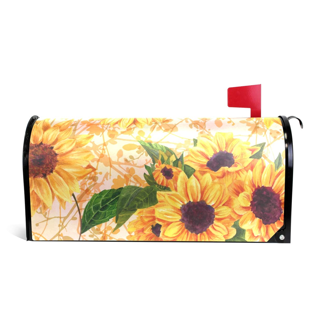 CiCily Magnetic Mailbox Cover Sunflower Decoration for House Garden