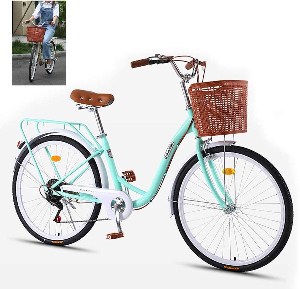 LadyS Bikes, Women Tradicional Bicicleta Urbana clásica con ...