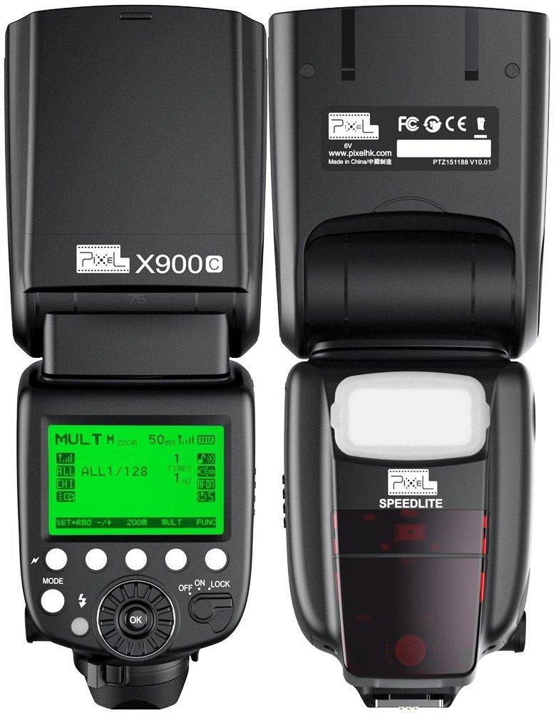 Pixel X900C Flash Speedlite for Canon, ETTL/M/MULT HSS 1/8000s Flash For Canon DSLR Camera EOS 6D Mark II 1D Mark III