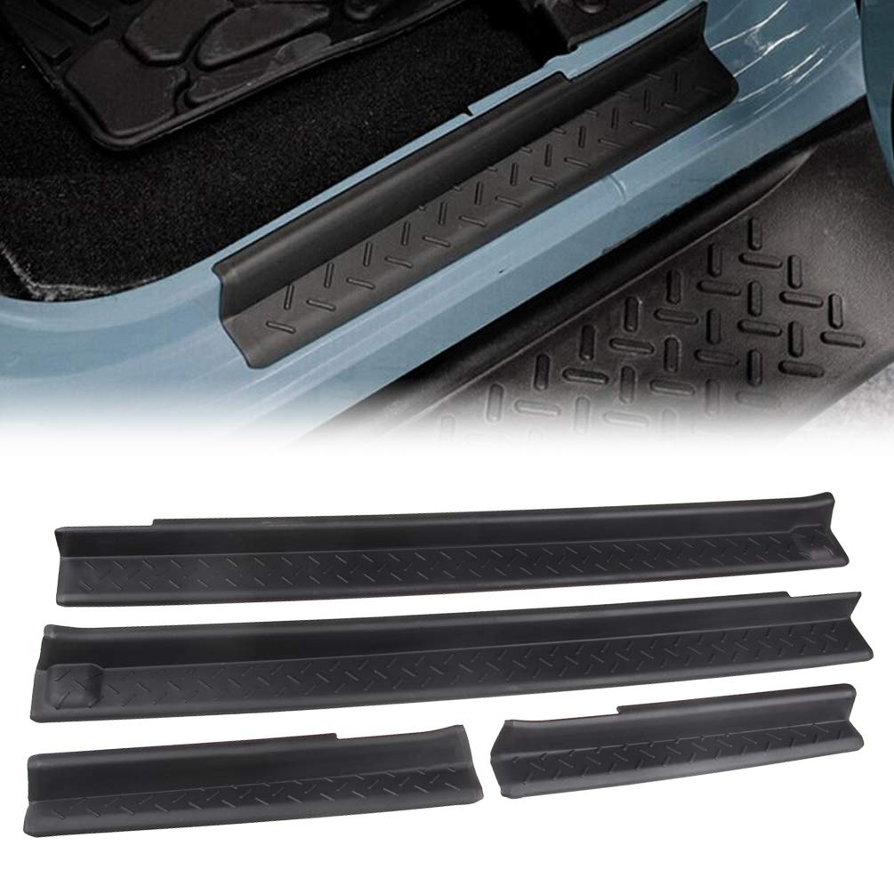 MINGLI/Front and Rear Entry Guards Door Entry Sill Plate Protectors For 2007-2016 Jeep Wrangler MINGLI-DS-Black