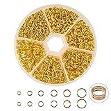 7 mm split rings - PandaHall Elite 1 Box Split Rings Jump Ring 4-10mm Gold Color for Jewelry Making