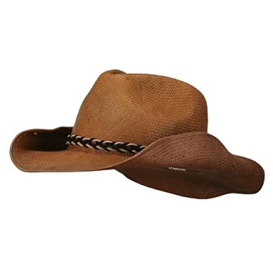 895b53ddd Jeanne Simmons Twisted Band Men's Cowboy Hat - Brown OSFM at Amazon ...