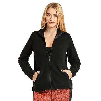 ET TU Women's Zip Up Polar Fleece Jacket at Women's Coats Shop