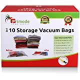Primode 10 Count Space Saver Vacuum Storage Bags - Saves Space and Protects Clothing Easy-to-Use