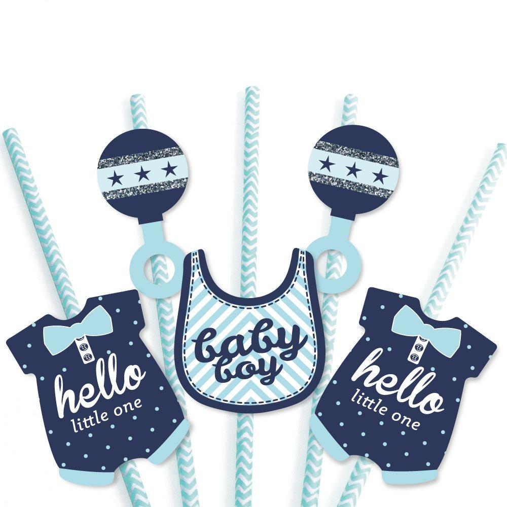 Amazon.com: Hello Little One – Azul y Plata Paja de papel ...