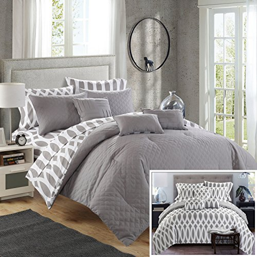 Chic Home 10 Piece Comforter Set Including 4 Piece Sheets Se