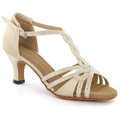 """DSOL Women's Latin Dance Shoes DC6728T-6 Heel 1.5""""   Heeled Sandals"""