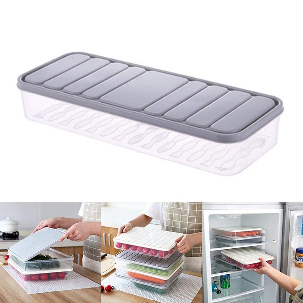 Refrigerator Food Container Crisper - Leegoal Thin Refrigerator Storage Box, Food Storage Lunch Boxes for Storing Fresh Food