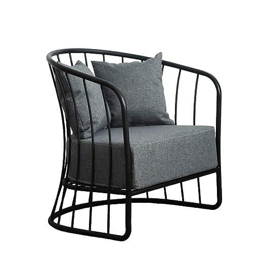 VBARV Silla de Comedor de Hierro sofá Individual - cómodo ...