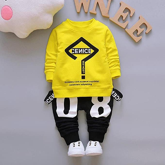 f9bf8305e Amazon.com: Vicbovo 2017 Trendy Toddler Baby Boy Hip-hop Outfits Letter  Print Sweatshirt Top+Pants Clothes Set: Clothing