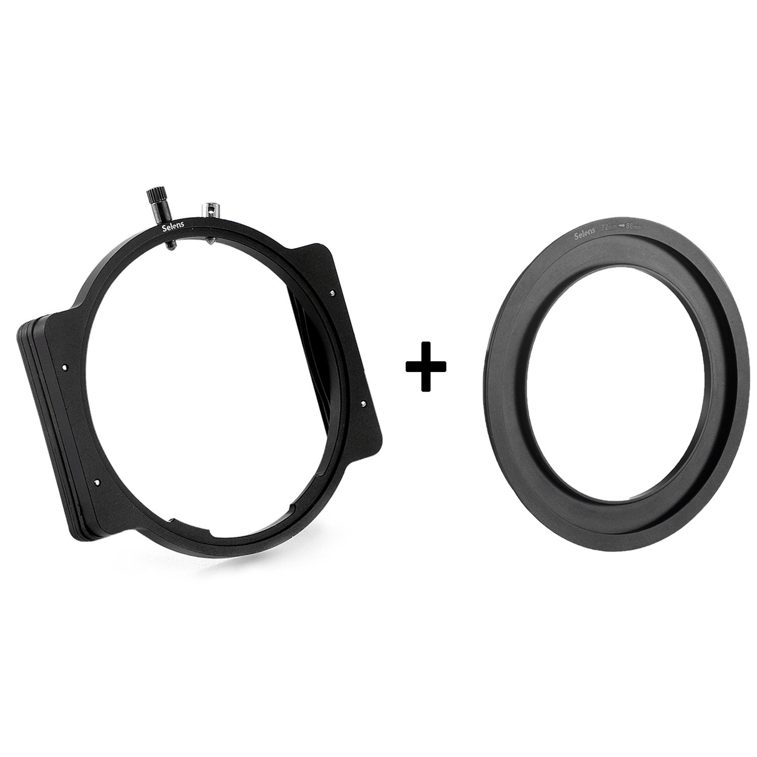 Selens Professional Metal Versatile Square Modular Filter Holder + Step-Up Ring Adapter 72-86mm for 4X4 4x5 4X5.65 Filter