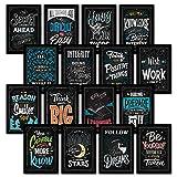 16 Pósteres inspiradores para aula, pizarrón motivadora con citas para estudiantes, decoración de aula para profesores, 13 x 19 cm, PAPER, 13 x 19