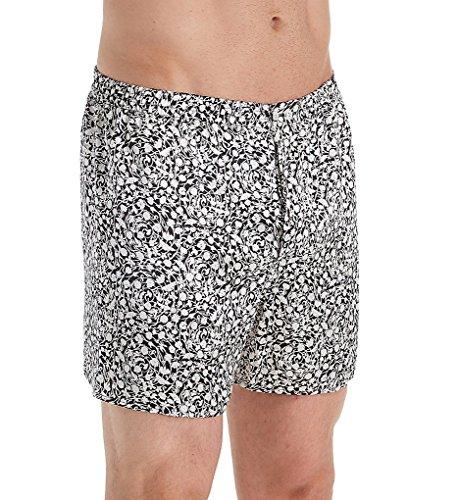 Zimmerli 100% Silk Pattern Boxers (ZN11A) XL/Black/White