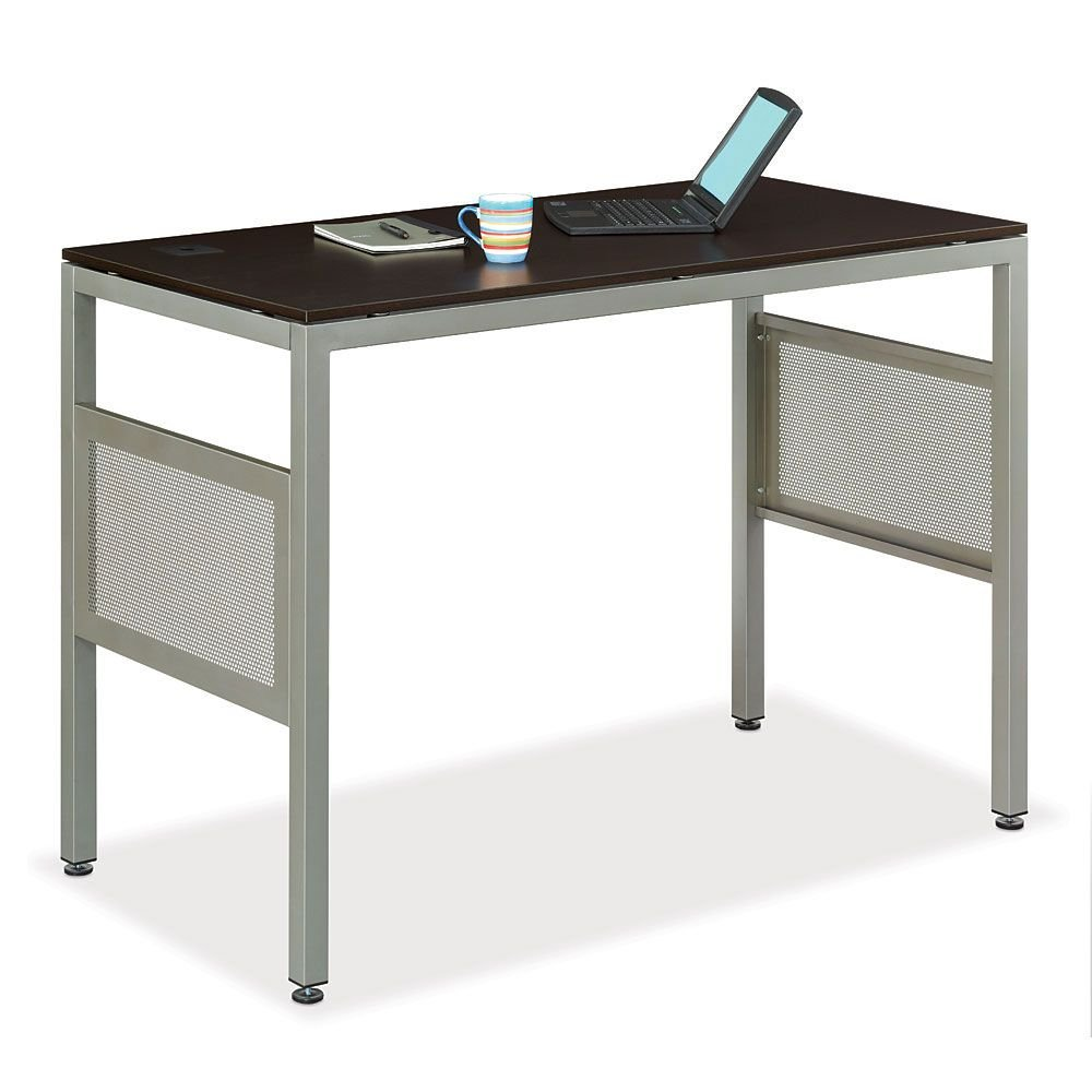 Amazoncom NBF Signature Series At Work Espresso Laminate Standing - Standing height work table