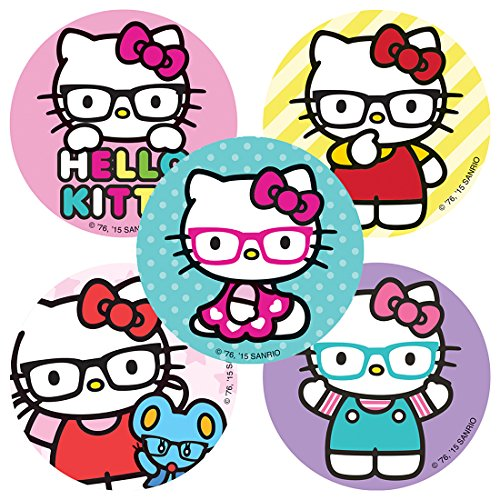SmileMakers Hello Kitty Glasses Stickers - Prizes 100 Per Pack