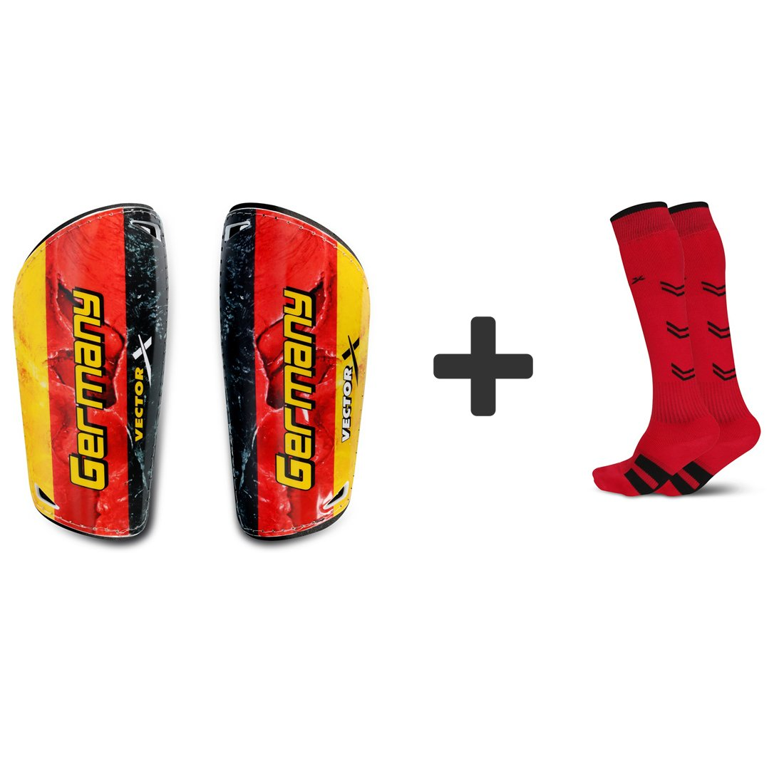 Vector X Combo of Soccer Socks & Shinpads