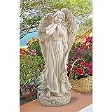 Cheap Design Toscano Constance's Conscience Angel Religious Garden Statue, 32 Inch, Polyresin, Antique Stone