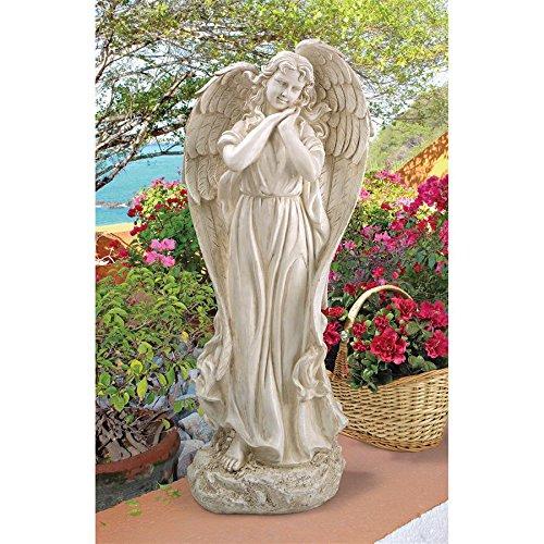 Garden Art Statue (Design Toscano Constance's Conscience Angel Religious Garden Statue, 32 Inch, Polyresin, Antique Stone)