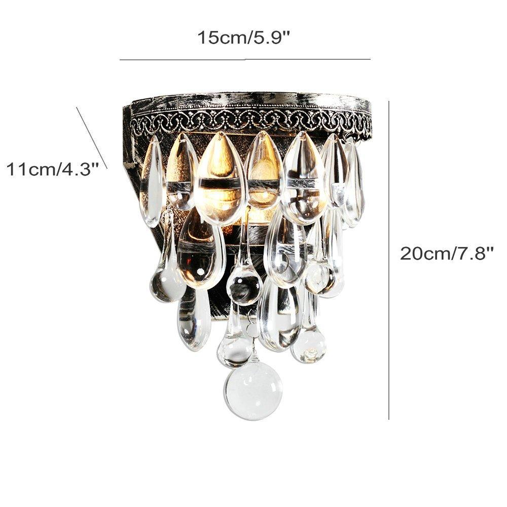 DPG Lighting K9 Crystal Wall Light Decoration Wall Lamp for Living Room, bedroom