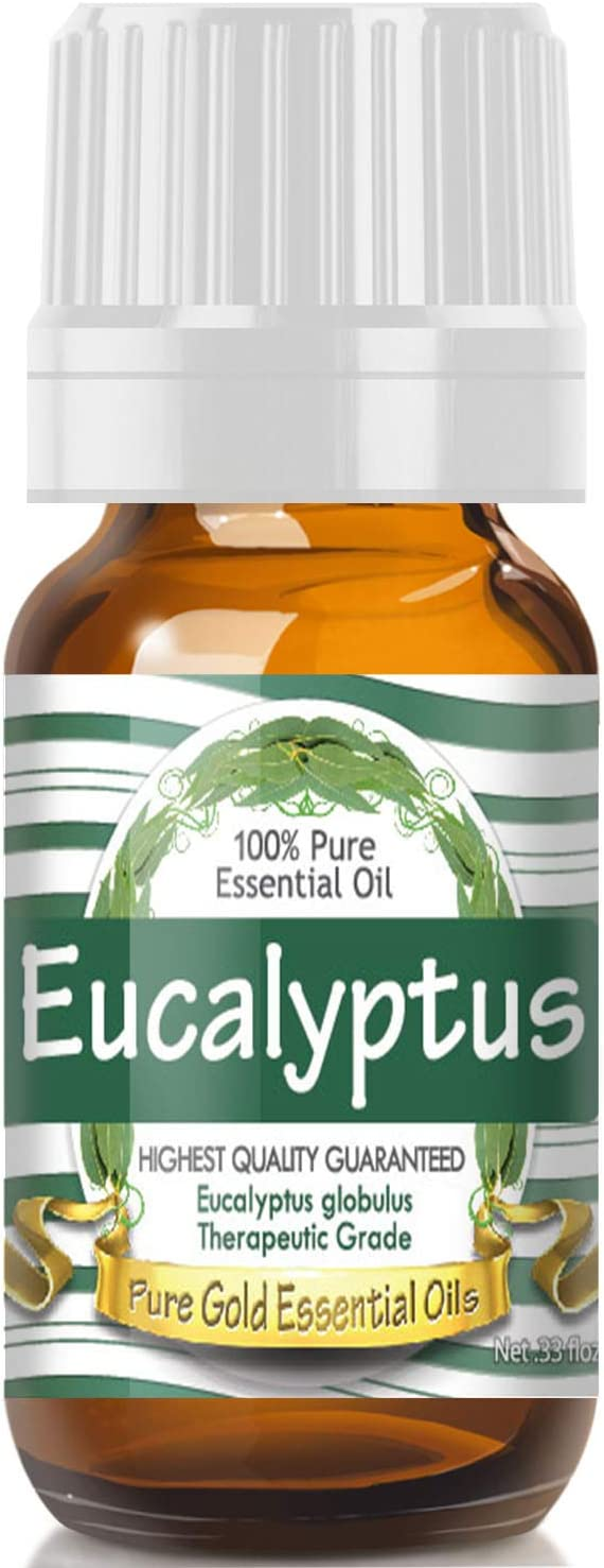 Pure Gold Eucalyptus Essential Oil, 100% Natural & Undiluted, 10ml