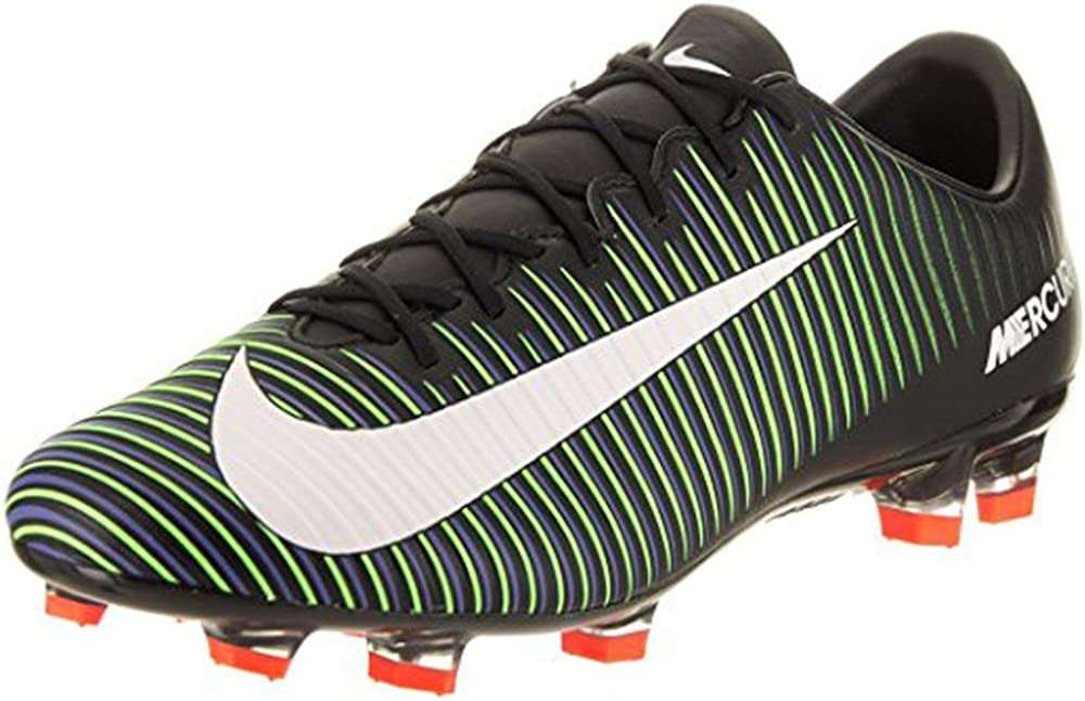 7.5A Nike Mercurial Veloce III FG Black//White//ElectricGreen Shoes
