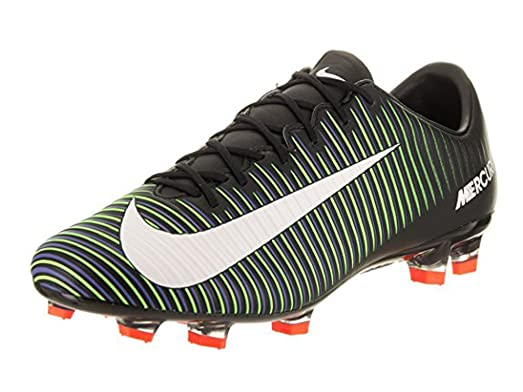 d819fca7e ... coupon for nike mercurial veloce iii fg black white electricgreen shoes  7.5a 56eed fddd7