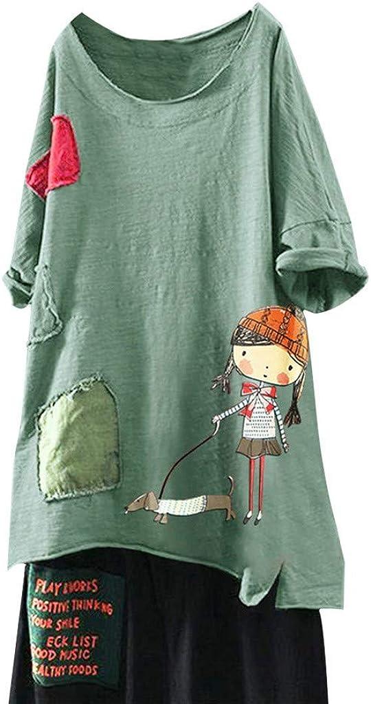 UNSHOU Women's Cute T Shirt...