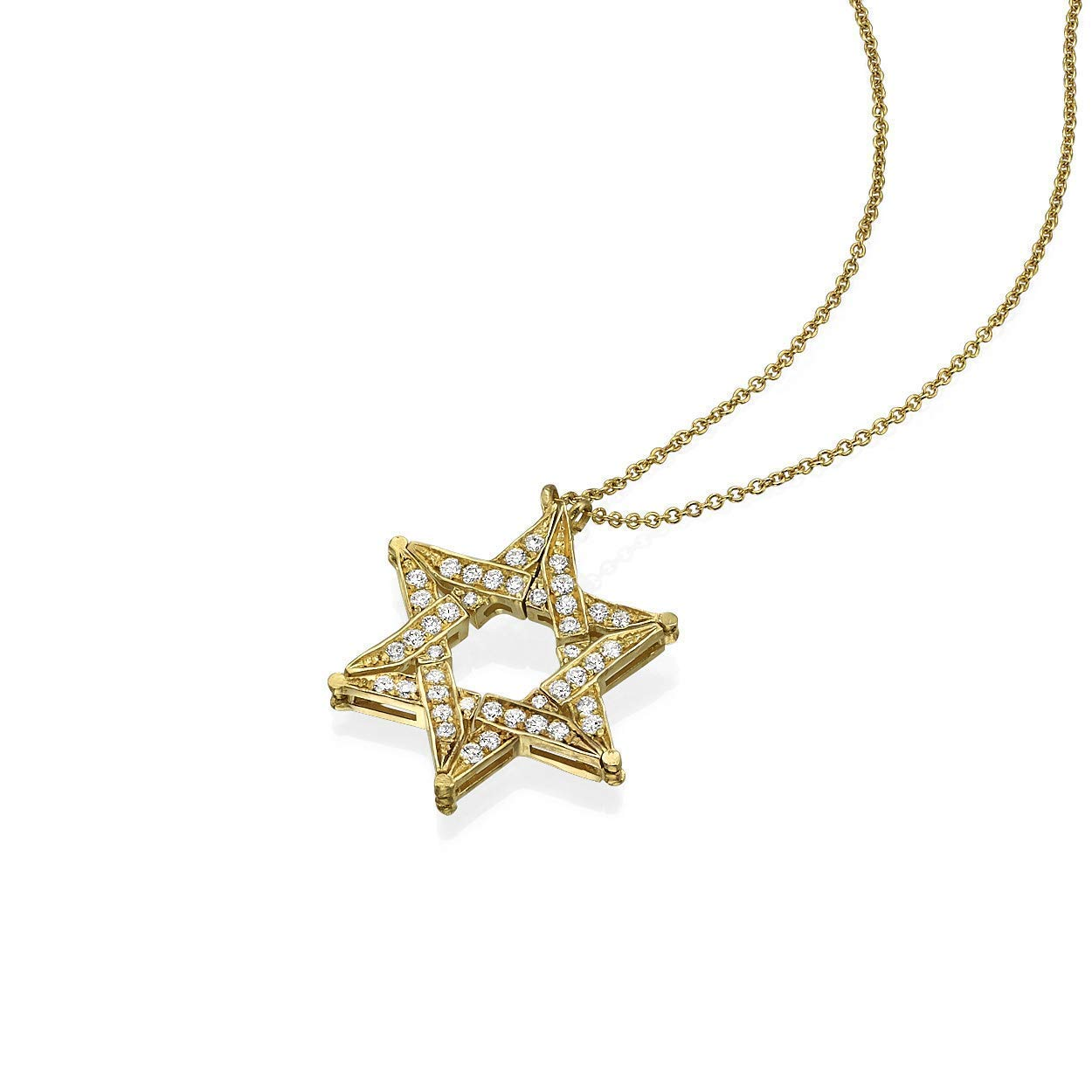 Diamond Pendant white gold Star of David 14K yellow gold pendant Judaica pendant Jewish Star of David gold /& diamonds pendant