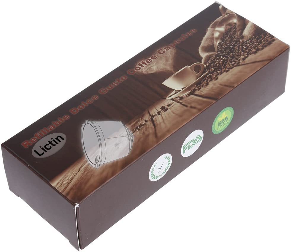 Lictin Version Mejorado Pack de 3 Cápsulas Filtros de café ...
