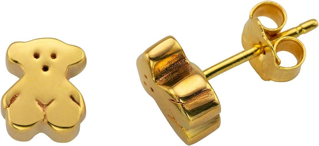 TOUS Pendientes de botón Mujer oro amarillo
