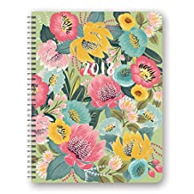 Orange Circle 32632 Studio 17-Month 2018 Extra Large Flexi Planner, Bold Blossoms