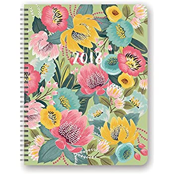 Orange Circle Studio 2018 Extra Large Flexi Planner, Aug. 2017 - Dec. 2018, Bold Blossoms