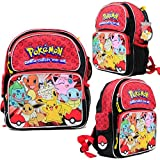 "Disney Pokemon 12"" Toddler Backpack Kids Canvas Book Bag Licensed New USA Seller"