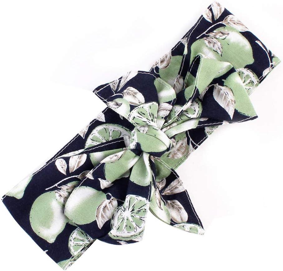 SOQNVLN Reizendes Kleinkind-Baby-gro/ßes Bowknot-Frucht-Druck-Haarband-Verpackungs-elastisches Stirnband Baby Stirnband