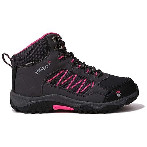 5f1dd69a0b3 Gelert Horizon Mid Waterproof Walking Boots Girls Charcoal/Pink ...