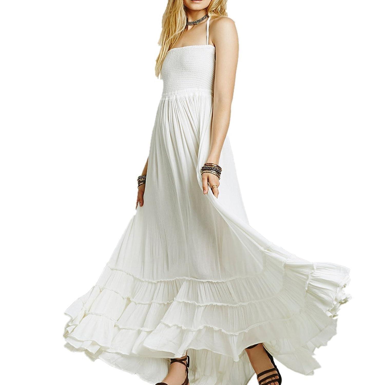 LOBTY Strankkleid Lang Bandage Damen SommerKleider Dress ...